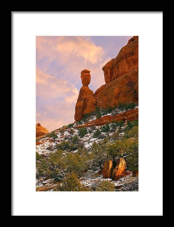 Colorado Framed Print featuring the photograph Balanced Rock by Rick Wicker