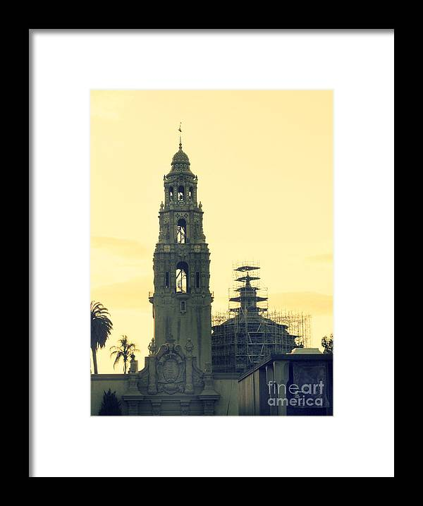 San Diego Framed Print featuring the photograph Balboa Tower by Tara Yarte