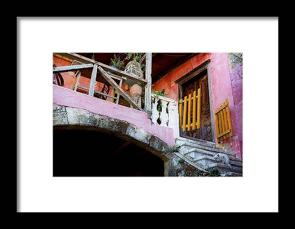 Color Framed Print featuring the photograph Balcony by Magdalena Mirowicz