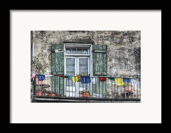 Balcony Framed Print featuring the photograph Balcony View by Brenda Bryant