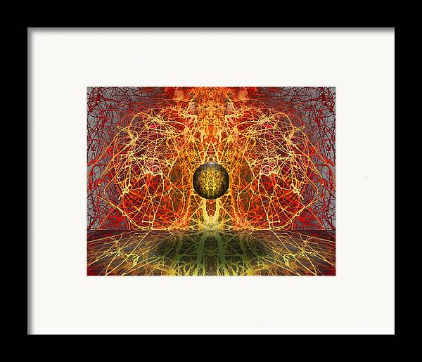 Framed Print featuring the digital art Ball And Strings by Otto Rapp