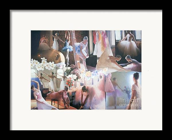 Pictures Of Ballarinas At Work Or In Performance; Ballet; Stage Framed Print featuring the mixed media Ballarina Beauty - Sold by Judith Espinoza