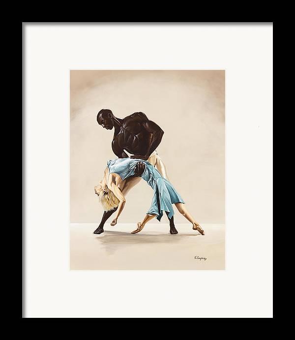 Ballet Framed Print featuring the painting Ballet 1 by Karen Loughridge KLArt