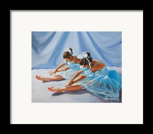 Ballet Dancers Framed Print featuring the painting Ballet Dancers by Paul Walsh