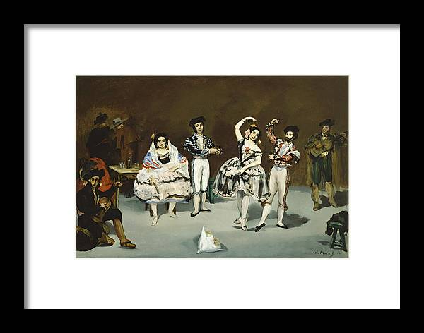 Edouard Manet Framed Print featuring the painting Ballet Espagnol by Celestial Images