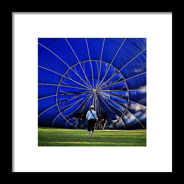 Hot Air Balloon Framed Print featuring the photograph Balloon by Pam B