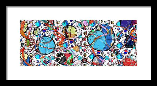 Abstract Framed Print featuring the digital art Balloons In Heaven by Gabrielle Schertz