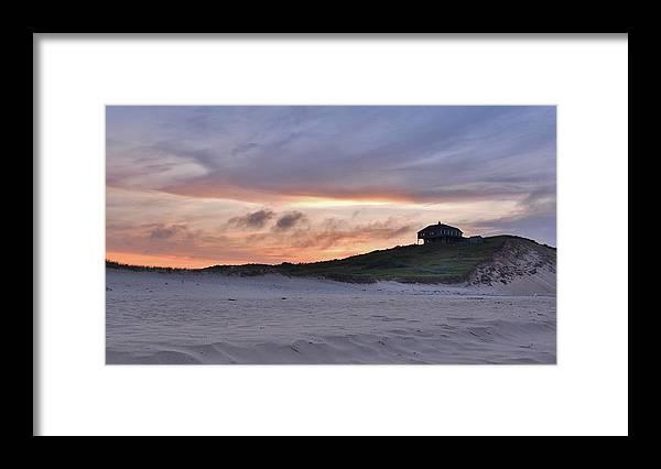Cape Cod Framed Print featuring the photograph Ballston Beach Sunset by Lisa Kane