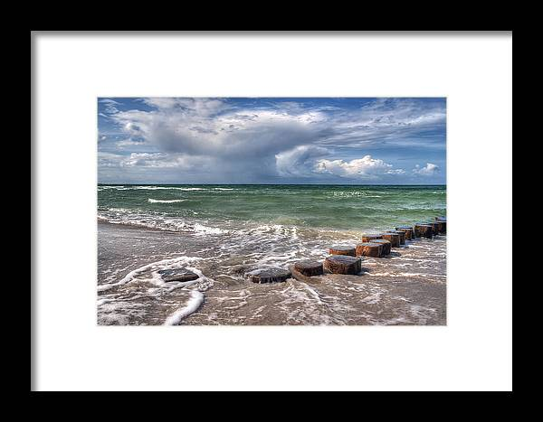 Ostsee Framed Print featuring the pyrography Baltic Beach by Steffen Gierok