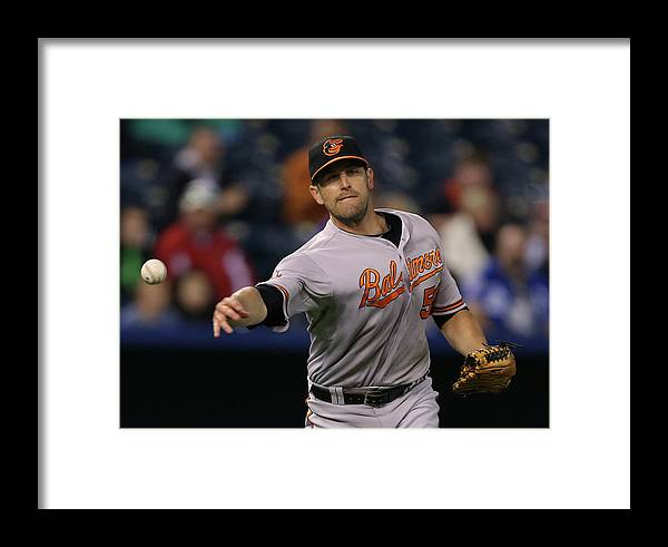 American League Baseball Framed Print featuring the photograph Baltimore Orioles V Kansas City Royals by Ed Zurga