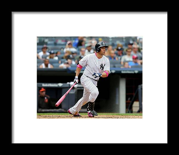 Mother's Day Framed Print featuring the photograph Baltimore Orioles V New York Yankees by Elsa
