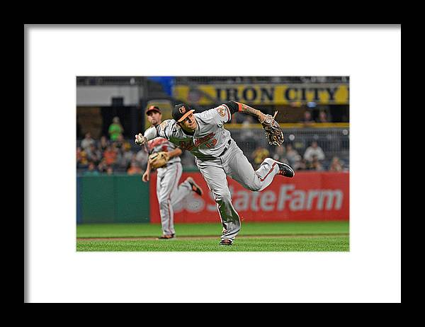 People Framed Print featuring the photograph Baltimore Orioles v Pittsburgh Pirates by Justin Berl
