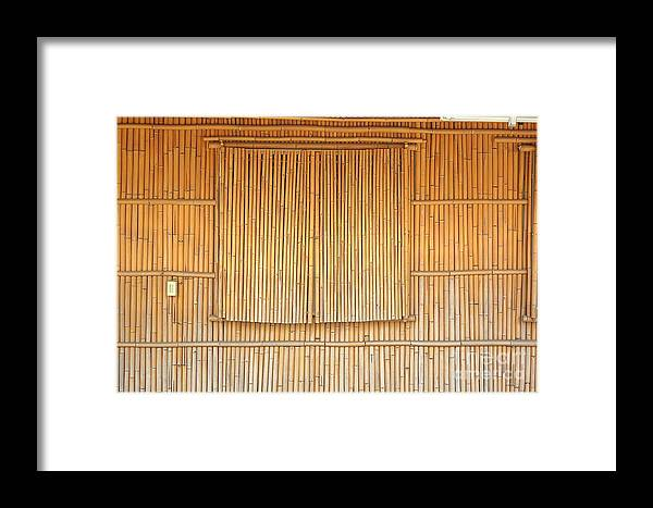 Bamboo Framed Print featuring the photograph Bamboo Wall And Shutters by Yali Shi