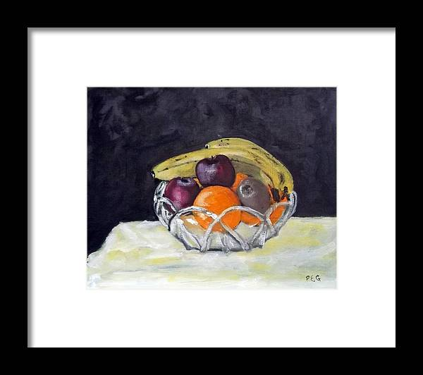 Still Life Framed Print featuring the painting Banana's by Peter Edward Green