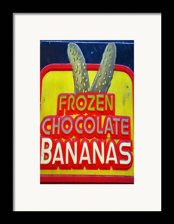 Fair Framed Print featuring the photograph Bananas by Skip Willits