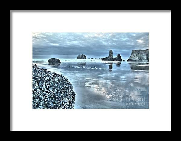 Bandon Beach Framed Print featuring the photograph Bandon Beach Scatter by Adam Jewell