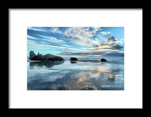 Bandon Beach Framed Print featuring the photograph Bandon Rock Garden by Adam Jewell