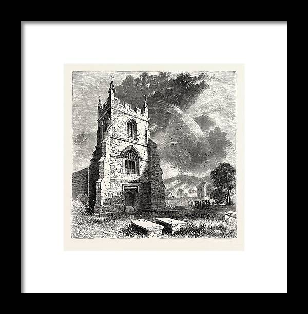 Bangor Framed Print featuring the drawing Bangor Cathedral. Bangor Cathedral Is An Ancient Place by Welsh School