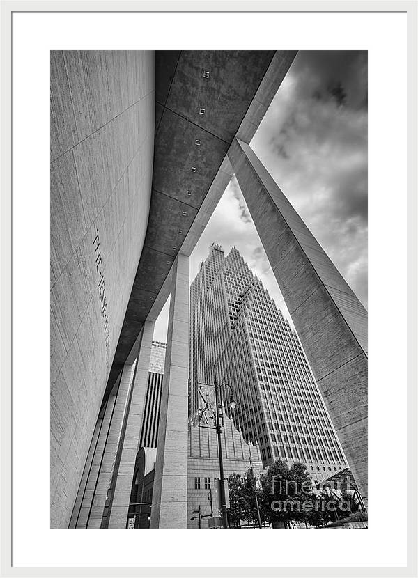 Bank of America Building through the Pillars of the Jesse Jones Hall - Houston Texas by Silvio Ligutti