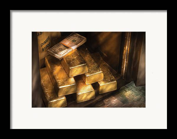 Savad Framed Print featuring the photograph Banker - My Precious by Mike Savad