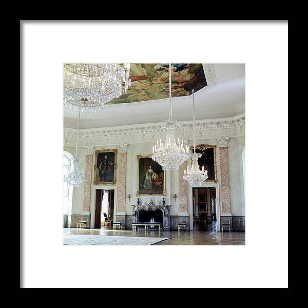 Interior Framed Print featuring the photograph Banquet Hall At Schloss Fasanerie by Horst P. Horst