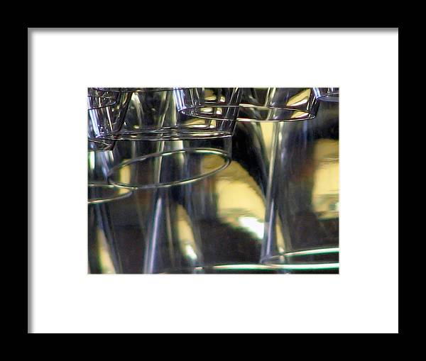 Framed Print featuring the photograph Bar Glass by Chris Anderson