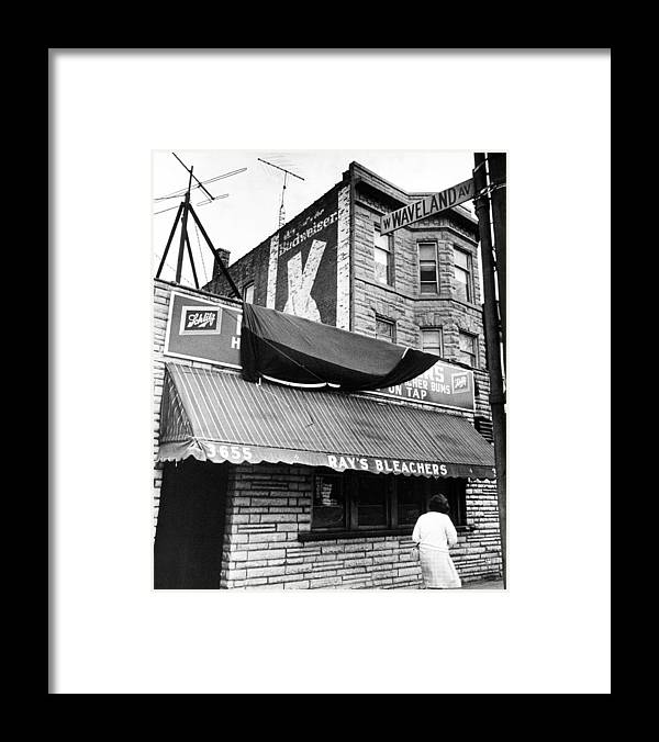 Retro Framed Print featuring the photograph Bar Outside Wrigley by Retro Images Archive