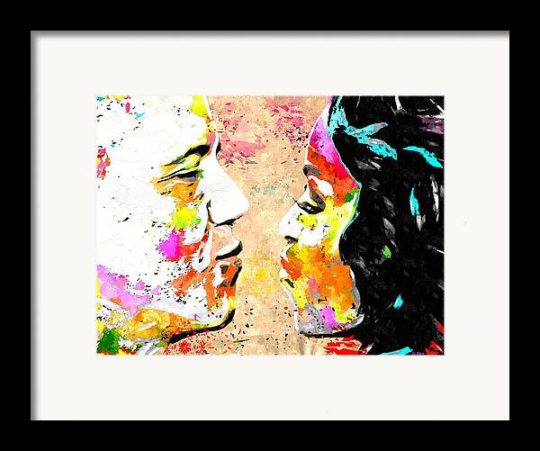 Barack And Michelle Framed Print featuring the painting Barack And Michelle by Daniel Janda