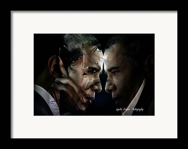 Barack Obama Framed Print featuring the digital art Barack Obama - by Lynda Payton