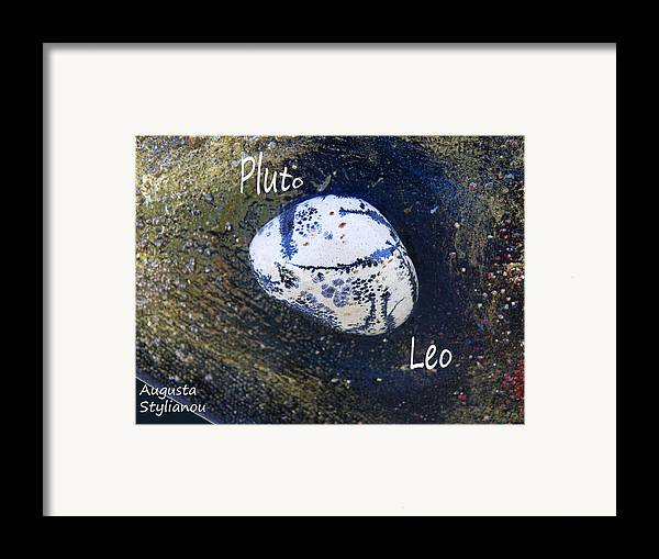 Barack Obama Painting Framed Print featuring the painting Barack Obama Pluto by Augusta Stylianou