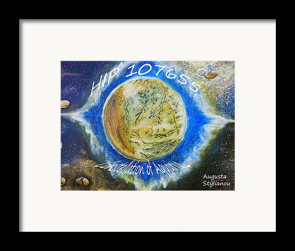 Barack Obama Framed Print featuring the painting Barack Obama Star by Augusta Stylianou