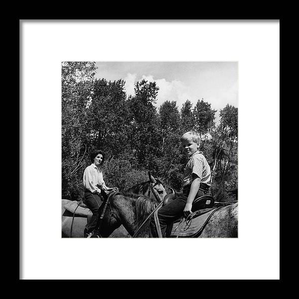 Socialite Framed Print featuring the photograph Barbara Mortimer And Son Tony Mortimer by Horst P. Horst