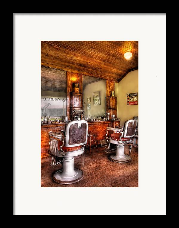 Barber Framed Print featuring the photograph Barber - The Barber Shop II by Mike Savad