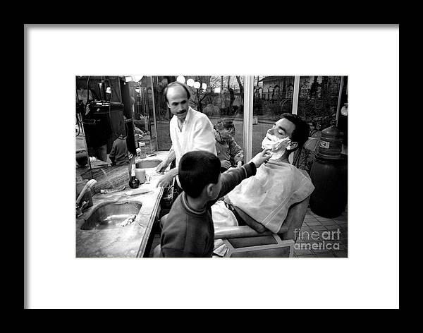 Barber Framed Print featuring the photograph Barber's Shop by Candido Salghero