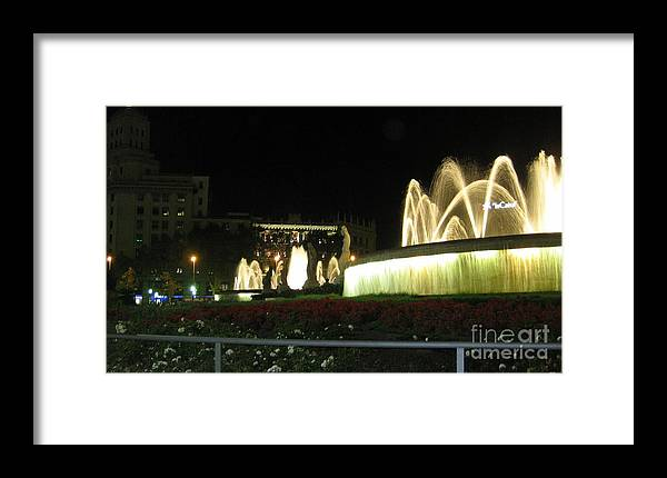 Barcelona Framed Print featuring the photograph Barcelona Fountain by Patti Gray