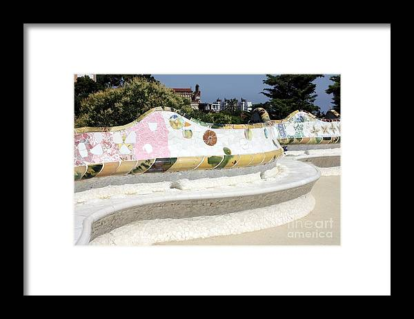 Bench Framed Print featuring the photograph Barcelona Landmark by Sophie Vigneault