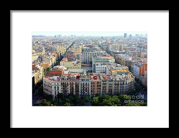 Barcelona Framed Print featuring the photograph Barcelona by Sophie Vigneault