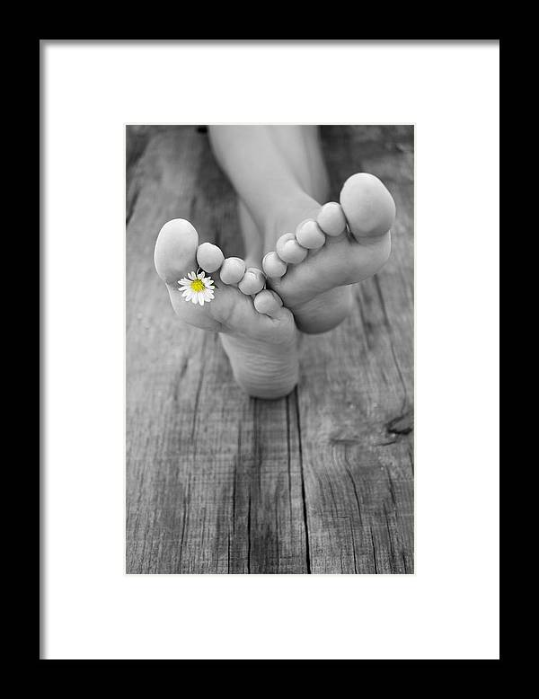 Barefoot Framed Print featuring the photograph Barefoot by Aged Pixel