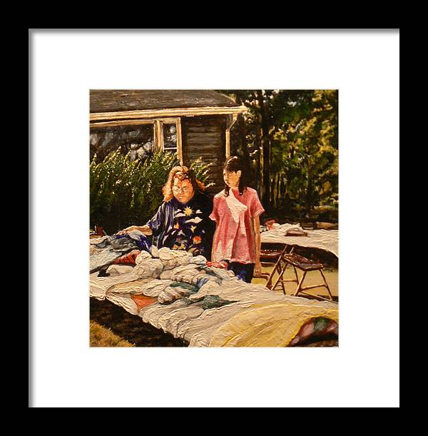Rural Life Framed Print featuring the painting Bargain Hunter by Thomas Akers