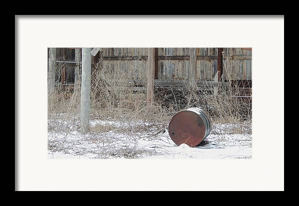 Old Rustic Barn And Barrel Framed Print featuring the photograph Barn #38 by Todd Sherlock