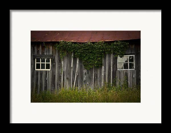 Barn Framed Print featuring the photograph Barn Eyes by Shane Holsclaw