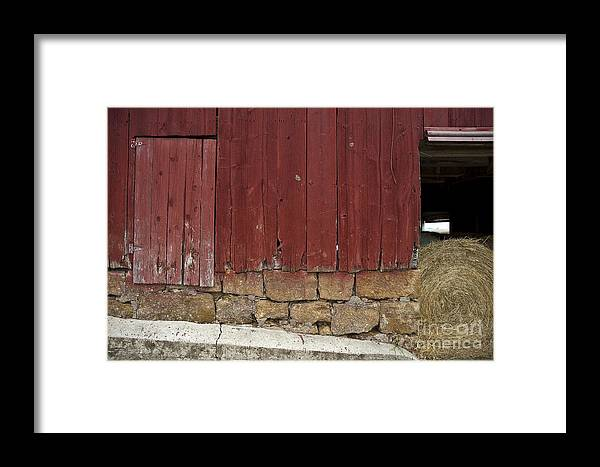 Red Barn Framed Print featuring the photograph Barn Face by Kelly Morrow