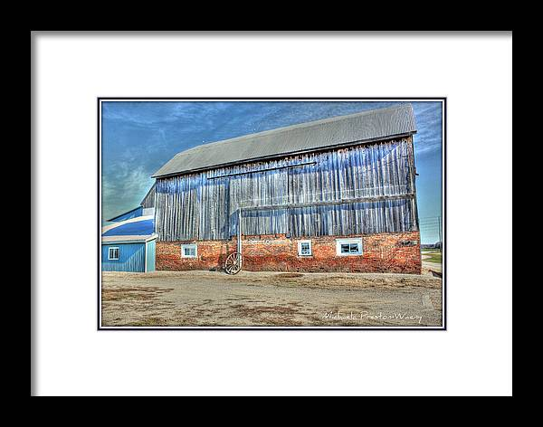 Hdr Framed Print featuring the photograph Barn by Michaela Preston
