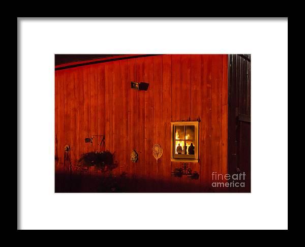 Barn Framed Print featuring the photograph Barn On Fire by Edward Deiro