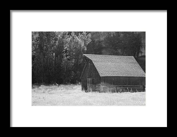 Barn Framed Print featuring the photograph Barn Out West by Natalie Rotman Cote