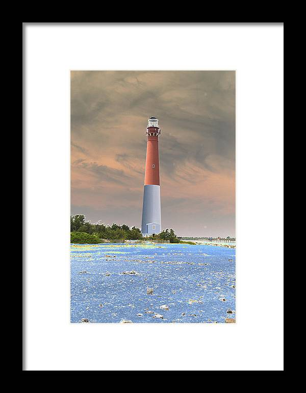 Lighthouse Framed Print featuring the photograph Barnegat Abstract by Christiane Schulze Art And Photography