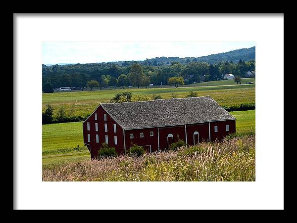 Framed Print featuring the photograph Barns Of Gettysburg 1a by Wayne Baer
