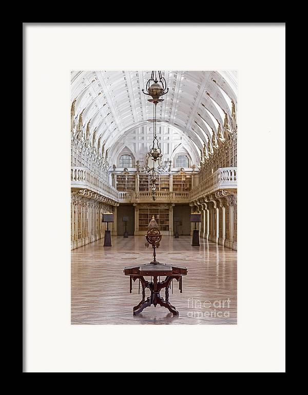 Baroque Framed Print featuring the photograph Baroque Library by Jose Elias - Sofia Pereira