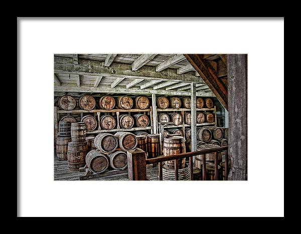Barrels Framed Print featuring the photograph Barrels by Kathy Williams-Walkup