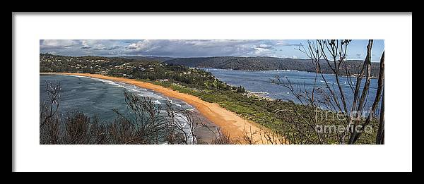 Barrenjoey Framed Print featuring the photograph Barrenjoey panorama by Sheila Smart Fine Art Photography